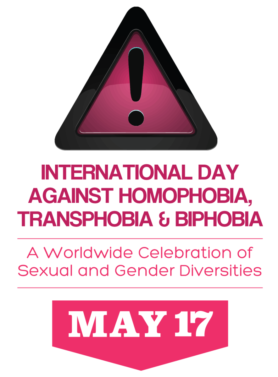 Logo of the International Day Against Homophobia, Transphobia and Biphobia