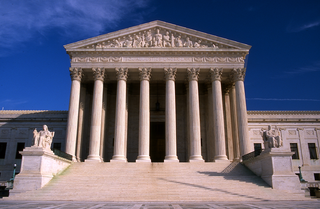 Photo of the entrance to the Supreme Court building