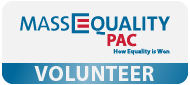 MassEquality PAC Volunteer nametag