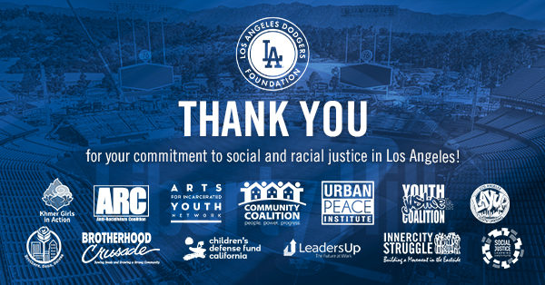 Thank You Los Angeles Dodgers and Dodgers Foundation